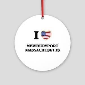 I love Newburyport Massachusetts Ornament (Round)