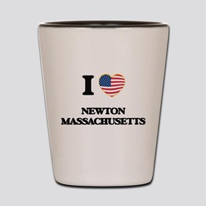 I love Newton Massachusetts Shot Glass