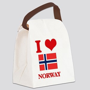 I Love Norway Canvas Lunch Bag