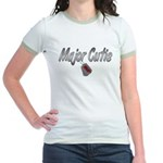 USAF Major Cutie ver2 Jr. Ringer T-Shirt
