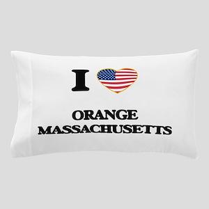 I love Orange Massachusetts Pillow Case