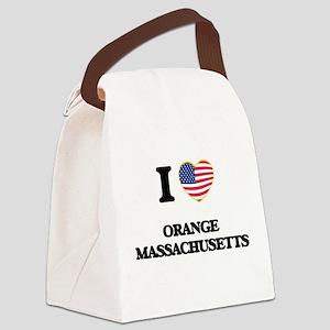 I love Orange Massachusetts Canvas Lunch Bag