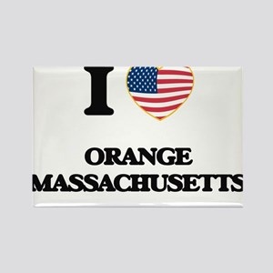 I love Orange Massachusetts Magnets