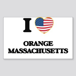 I love Orange Massachusetts Sticker