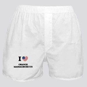 I love Orange Massachusetts Boxer Shorts