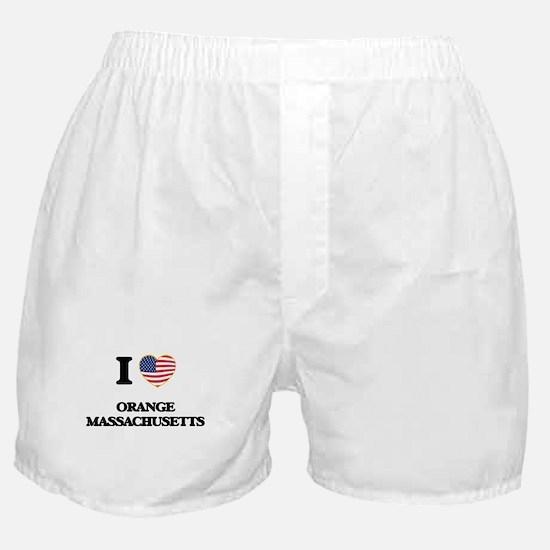 I love Orange Massachusetts Boxer Shorts