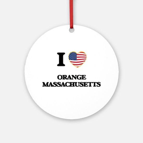 I love Orange Massachusetts Ornament (Round)