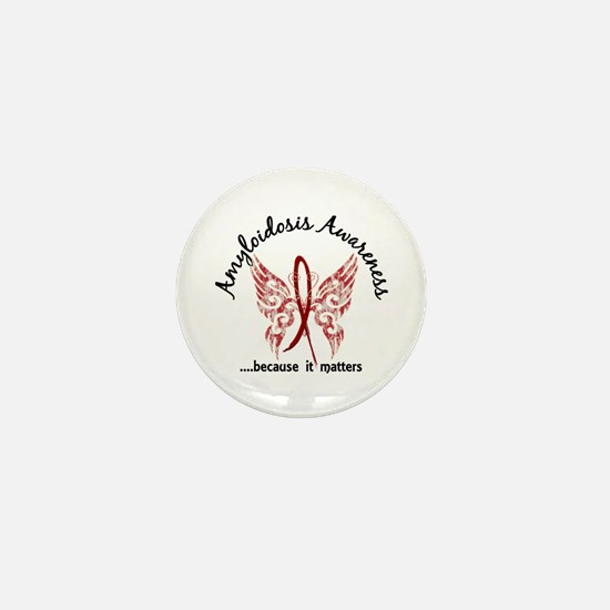 Amyloidosis Butterfly 6.1 Mini Button