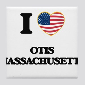 I love Otis Massachusetts Tile Coaster