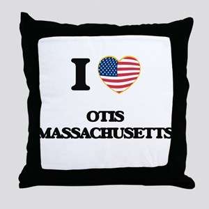I love Otis Massachusetts Throw Pillow