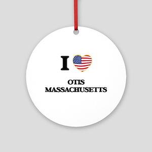 I love Otis Massachusetts Ornament (Round)