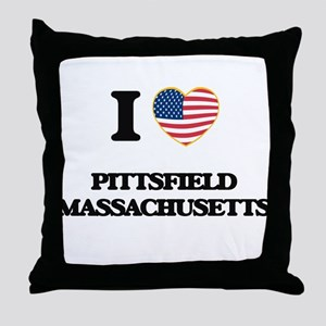 I love Pittsfield Massachusetts Throw Pillow
