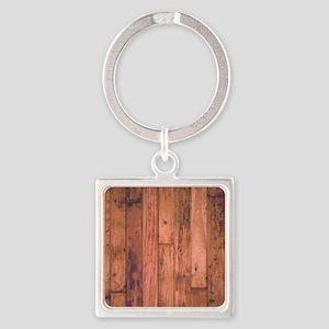 Old Wood Planks Keychains