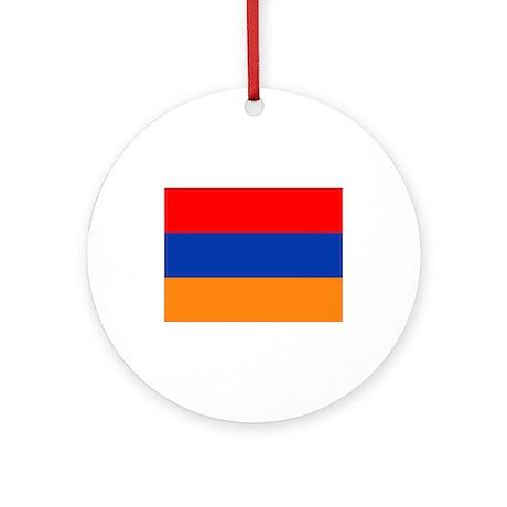 Armenian Flag Ornament (Round)