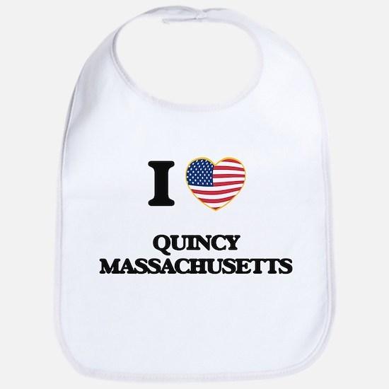 I love Quincy Massachusetts Bib