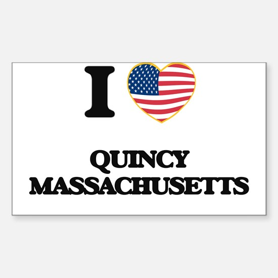 I love Quincy Massachusetts Decal