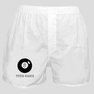 Black Eight Ball (Custom) Boxer Shorts