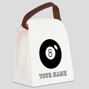 Black Eight Ball (Custom) Canvas Lunch Bag