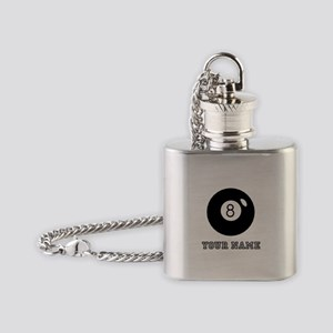Black Eight Ball (Custom) Flask Necklace