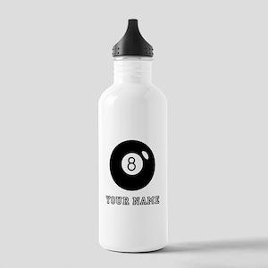 Black Eight Ball (Custom) Water Bottle