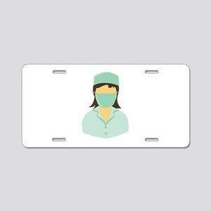 Lady Doctor Aluminum License Plate