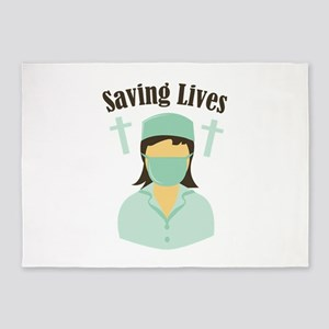 Saving Lives 5'x7'Area Rug