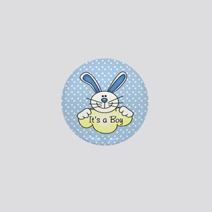It's A Boy Blue Bunny Mini Button