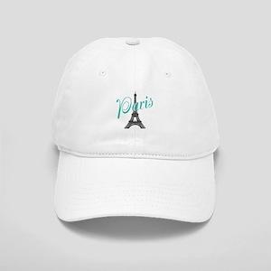 Vintage Paris Eiffel Tower Baseball Cap