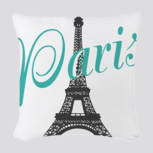 Vintage Paris Eiffel Tower Woven Throw Pillow