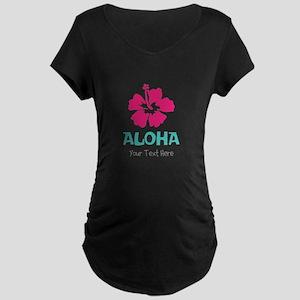 Hawaiian flower Aloha Maternity T-Shirt