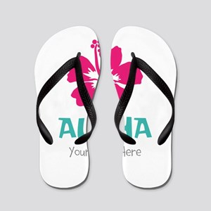 6f2b2f7f27f11e Hawaiian Wedding Flip Flops - CafePress