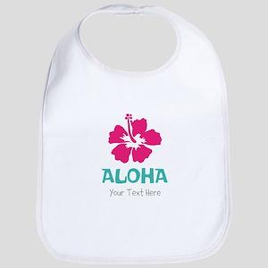 Hawaiian flower Aloha Bib