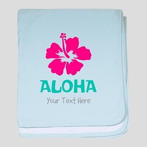 Hawaiian flower Aloha baby blanket