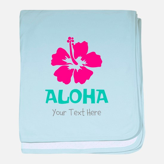 Hawaiian flower Aloha baby blanket