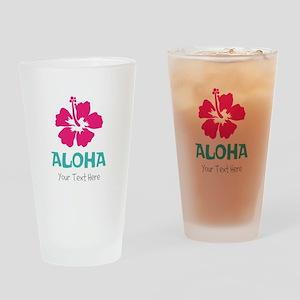 Hawaiian flower Aloha Drinking Glass