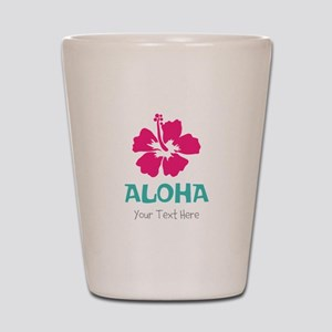 Hawaiian flower Aloha Shot Glass