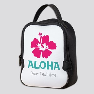 Hawaiian flower Aloha Neoprene Lunch Bag