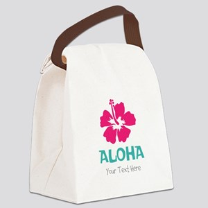 Hawaiian flower Aloha Canvas Lunch Bag