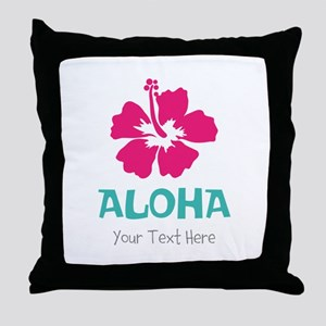 Hawaiian flower Aloha Throw Pillow