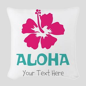 Hawaiian flower Aloha Woven Throw Pillow