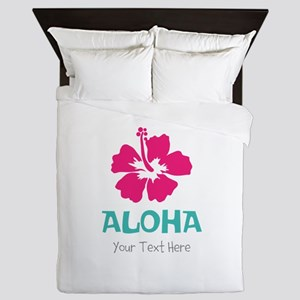 Hawaiian flower Aloha Queen Duvet