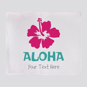 Hawaiian flower Aloha Throw Blanket