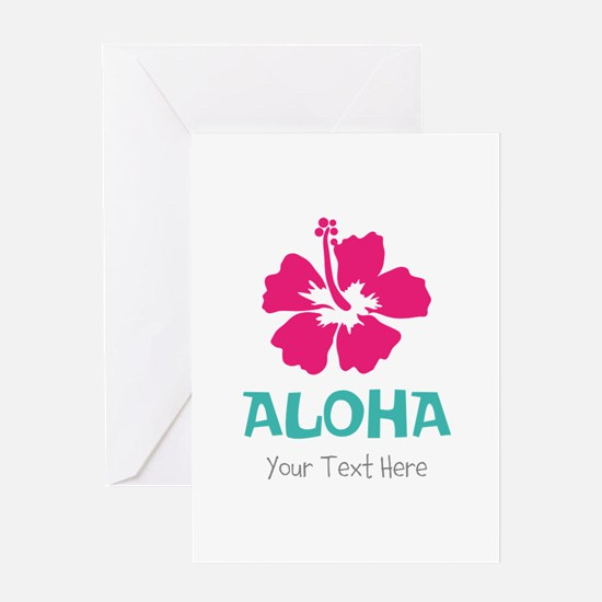 Hawaiian flower Aloha Greeting Cards