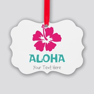 Hawaiian flower Aloha Ornament