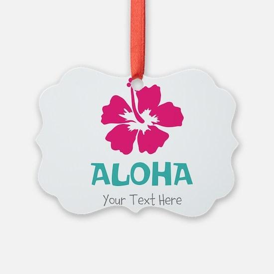 Hawaiian flower Aloha Ornament