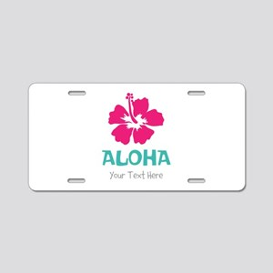 Hawaiian flower Aloha Aluminum License Plate