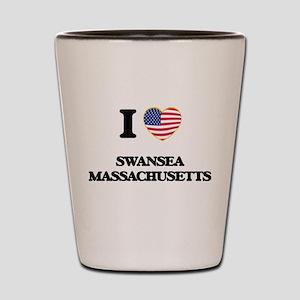 I love Swansea Massachusetts Shot Glass