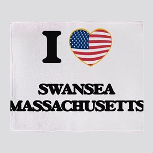 I love Swansea Massachusetts Throw Blanket
