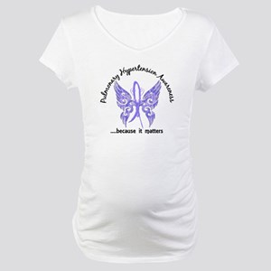 Pulmonary Hypertension Butterfly Maternity T-Shirt