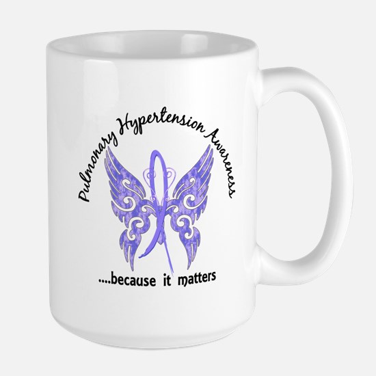 Pulmonary Hypertension Butterfly 6.1 Large Mug